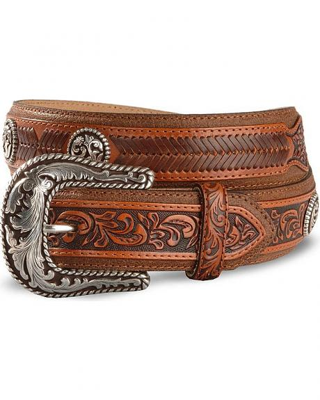 Tony Lama Lubbock Laced Leather Belt