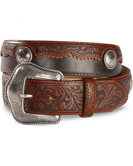 Tony Lama Cowboy King Leather Belt