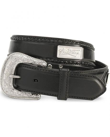 Budweiser Concho Leather Belt