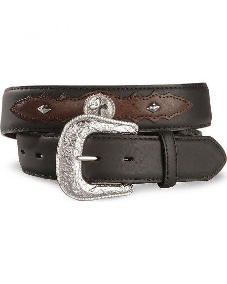 Exclusive Gibson Trading Co. Cross Concho Leather Belt