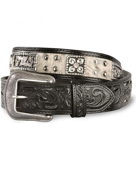Men's Hair On Hide Leather Belt