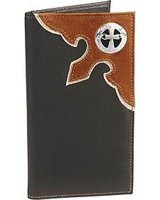 Cross Concho Overlay Checkbook