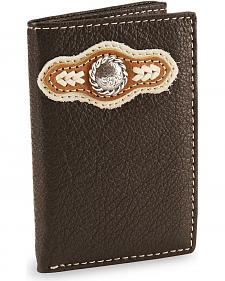 Nocona Concho Tri-Fold Leather Wallet