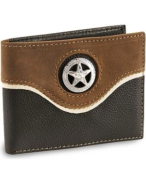 Nocona Star Concho Bi-Fold Leather Wallet