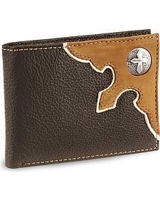 Nocona Cross Concho Bi-Fold Leather Wallet