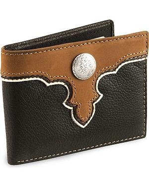 Nocona Concho Bi-Fold Leather Wallet