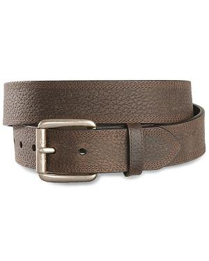 Ariat Brown Triple Stitch Oiled Rowdy Belt - Reg & Big