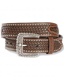 Ariat Brown Sands Studded & Embossed Leather Belt - Reg & Big
