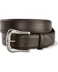 Ariat Black Perforated Edge Belt - Reg & Big