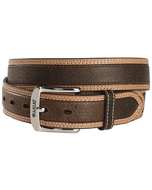Ariat Brown Diesel Wheel Edge Belt - Reg & Big