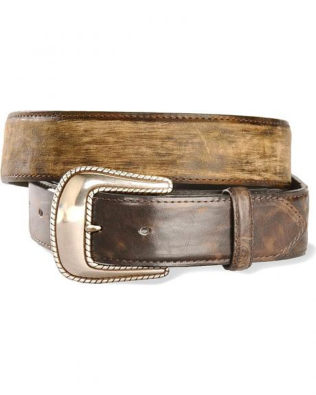 Stetson Distressed & Smooth Leather Belt