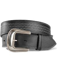 Stetson Burnished Leather Contrast Stitched Belt at Sheplers