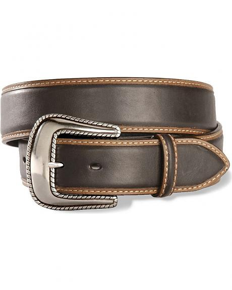 Stetson Contrast Oiled Leather Belt