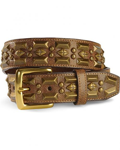 Pyramid Studded Leather Belt