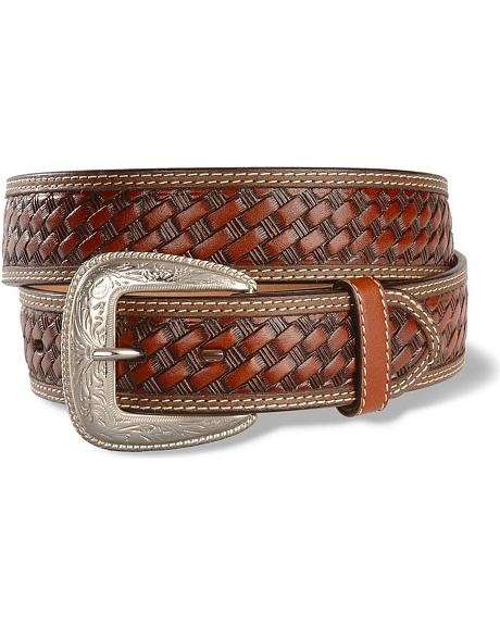 Basketweave Leather Western Belt