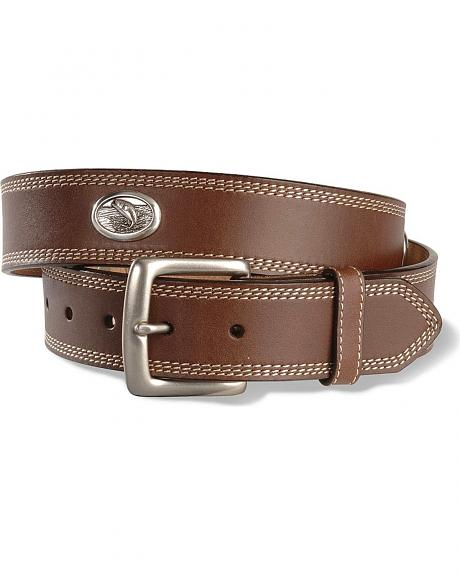 Jumping Bass Concho Leather Belt