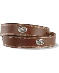 Jumping Bass Concho Leather Belt at Sheplers