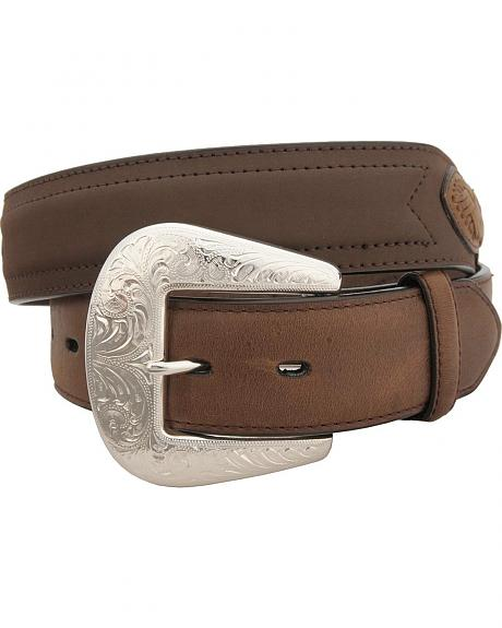 Two-Tone Leather Concho Belt
