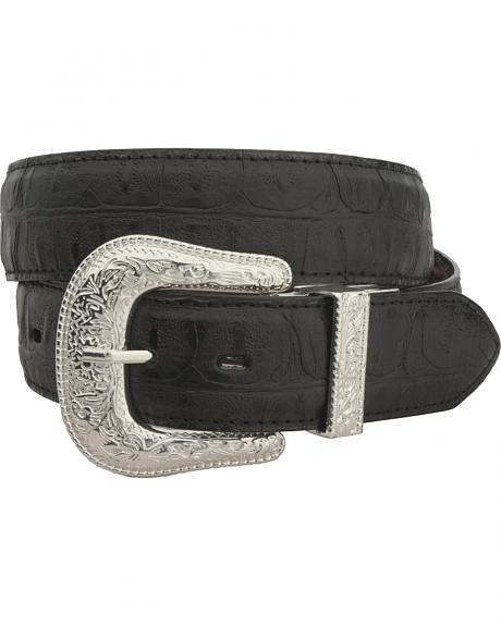 Gibson Trading Co. Reversible Alligator Print Leather Belt
