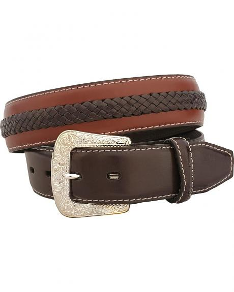 Leather Laced Western Belt