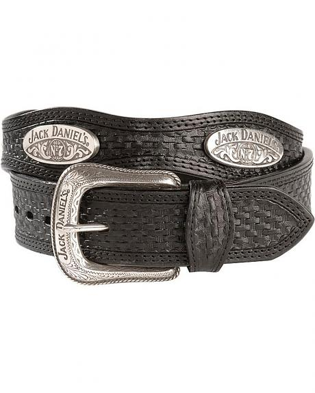 Jack Daniel's Scalloped Basketweave Rawhide Belt