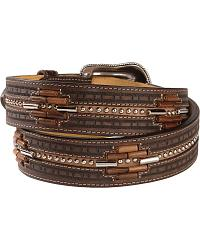 Tony Lama Beaded Aztec Western Belt at Sheplers