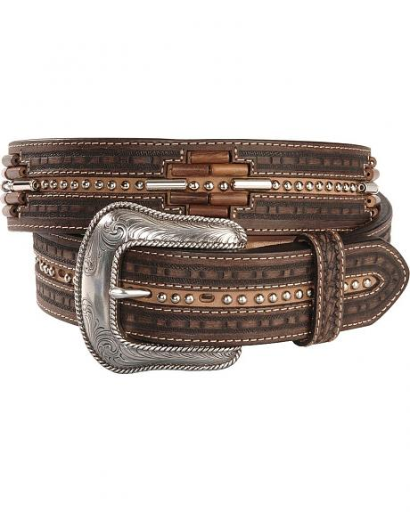 Tony Lama Beaded Aztec Western Belt
