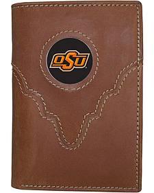 Oklahoma State University Logo Patch Tri-Fold Wallet