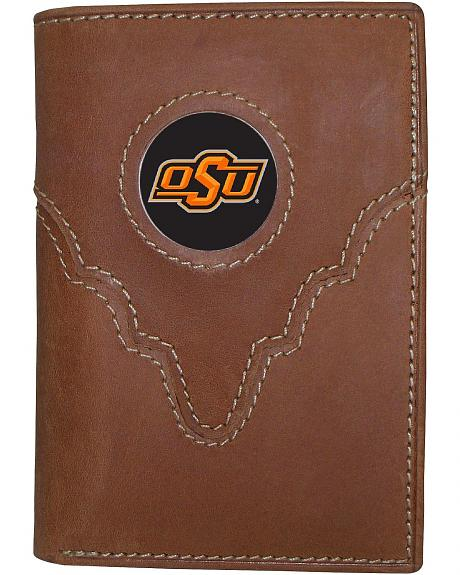 Oklahoma State University Logo Patch Tri-Fold Wallet