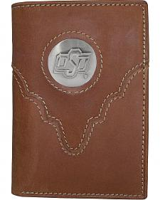 Oklahoma State University Logo Concho Tri-Fold Wallet