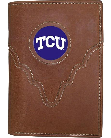Texas Christian University Logo Patch Tri-Fold Wallet