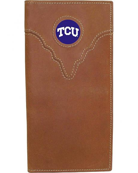 Texas Christian University Logo Patch Checkbook