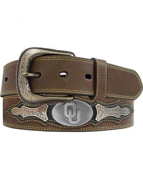 University of Oklahoma Concho Overlay College Belt