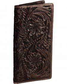 Roper Floral Tooled Secretary Checkbook