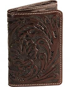 Roper Men's Floral Tooled Tri-Fold Wallet