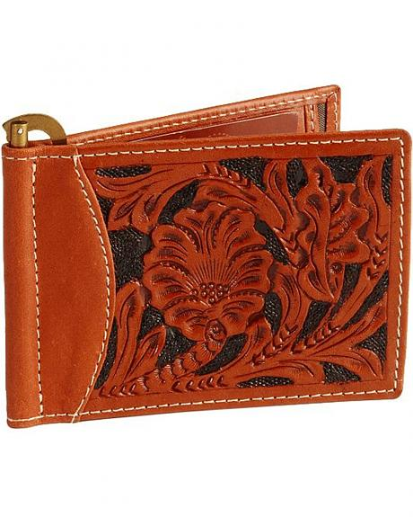 Roper Men's Tooled Front Pocket Wallet
