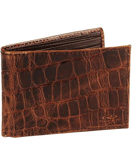 Roper Croc Print Leather Bi-Fold Wallet
