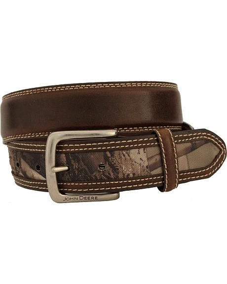 John Deere Camo Leather Belt
