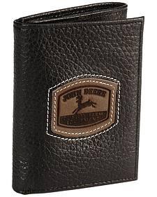 John Deere Tri-Fold Leather Wallet