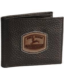 John Deere Bi-Fold Leather Wallet