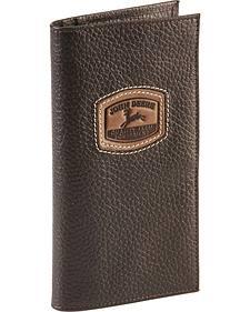 John Deere Leather Checkbook