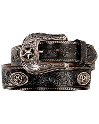 Justin Ranch Star Concho Belt at Sheplers