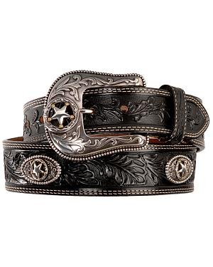 Justin Ranch Star Concho Belt