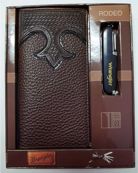 Wrangler Pocket Knife & Wallet Gift Set