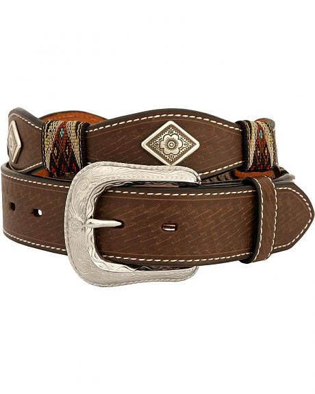 Exclusive Gibson Trading Co. Scalloped Concho & Aztec Wrap Belt