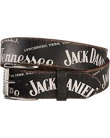 Jack Daniel's Screen Print Logo Western Belt