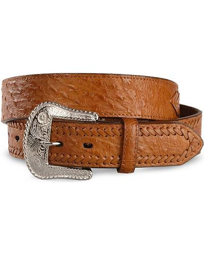 Exclusive Gibson Trading Co. Concho Ostrich Print Leather Belt Big Western & Country 2028F