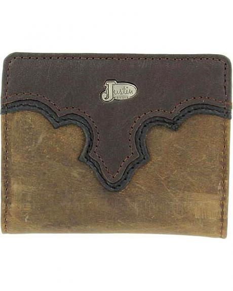 Justin Leather Overlay Bi-Fold Wallet