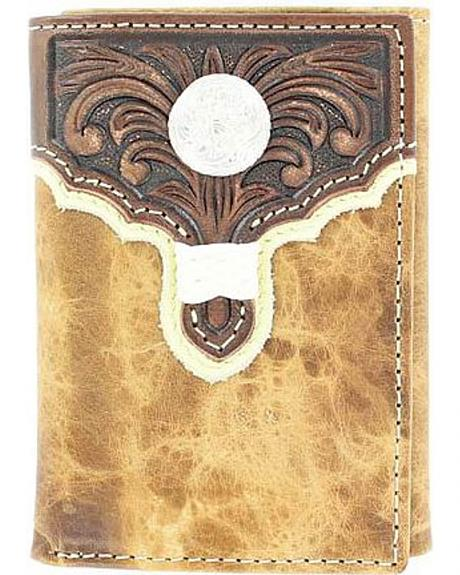 Tony Lama Scroll & Concho Tri-Fold Wallet