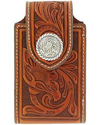 Nocona Tooled Leather Electronics Case at Sheplers